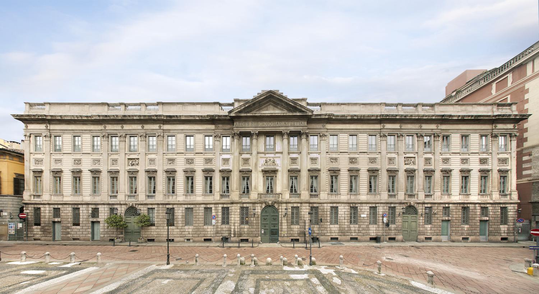 Palazzo Belgiojoso-Opera di Giuseppe Piermarini 1772-87 per il principe Alberico XII di Belgioioso d'Este